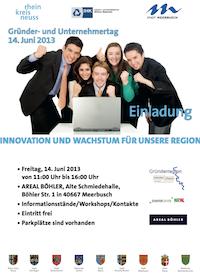 Anmeldeformular zum Gründer- und Unternehmertag 2013