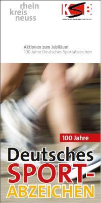 Flyer download: 100 Jahre deutsches Sportabzeichen