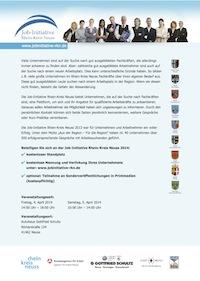 Job-Initiative Rhein-Kreis Neuss, 2014