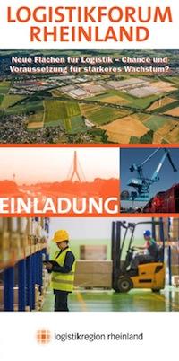 Logistikforum Rheinland - zum Anmelde und Infoformular